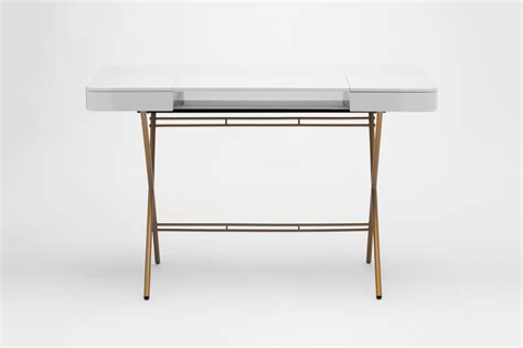 grey and gold desk mdf writing desk with drawers cosimo grey glossy lacquered