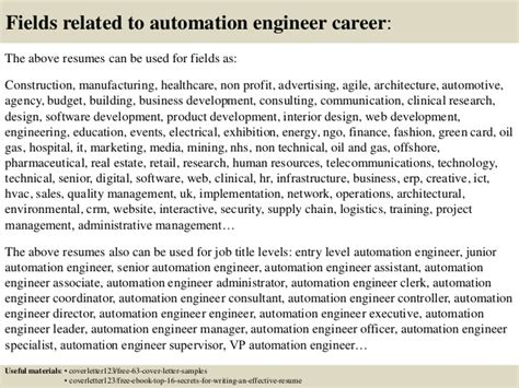 cover letter automation engineer top 5 automation engineer cover letter sles