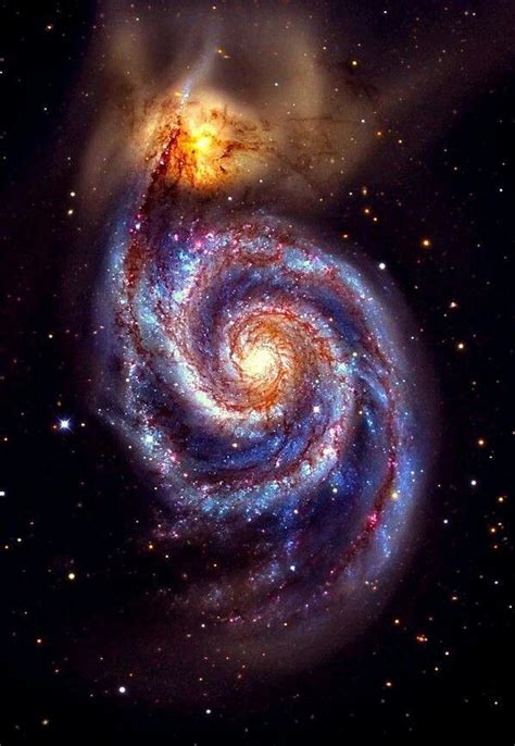 whirlpool galaxy the whirlpool galaxy planets and galaxies