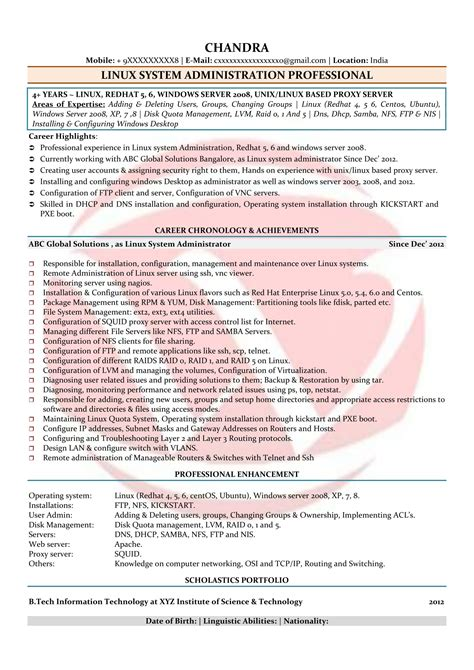 server administrator resume format resume for server administrator najmlaemah