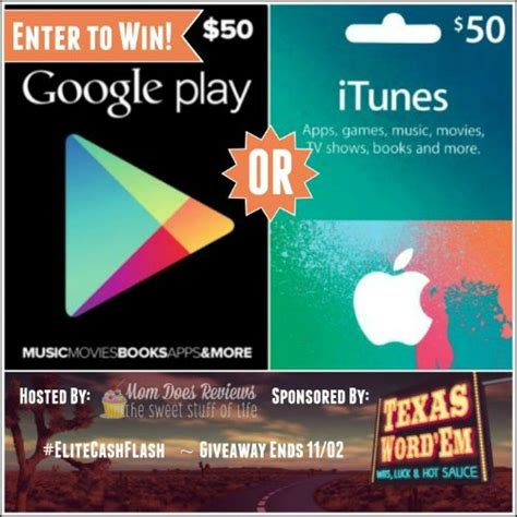 Google Play Giveaway - 50 google play or itunes gift card flash giveaway