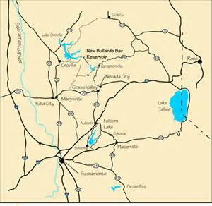 new bullards bar reservoir ca map and directions