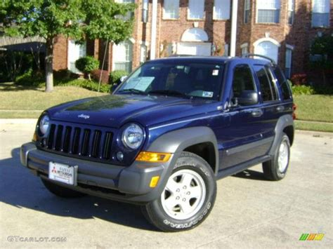 midnight blue jeep 2007 midnight blue pearl jeep liberty sport 1534336 photo