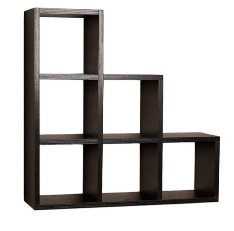modern 4 shelf bookcase bookshelf display shelves home office living room bedroom home decor lucienne stepped wall shelf black contemporary display wall shelves by danya b