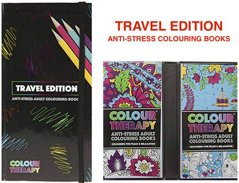 colour therapy anti stress colouring book uk wholesale bulk colour therapy travel edition book