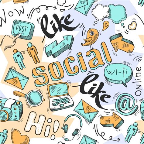 how to edit a doodle seamless doodle social media pattern background vector