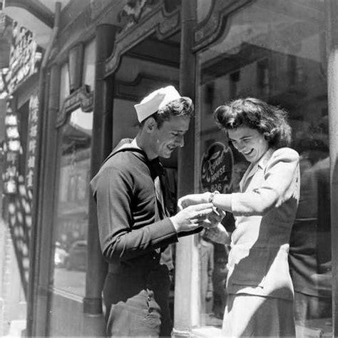 vintage   military couples   melt  heart