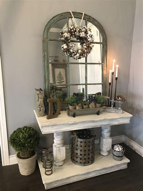 modern farmhouse entry table design  nikki johnston