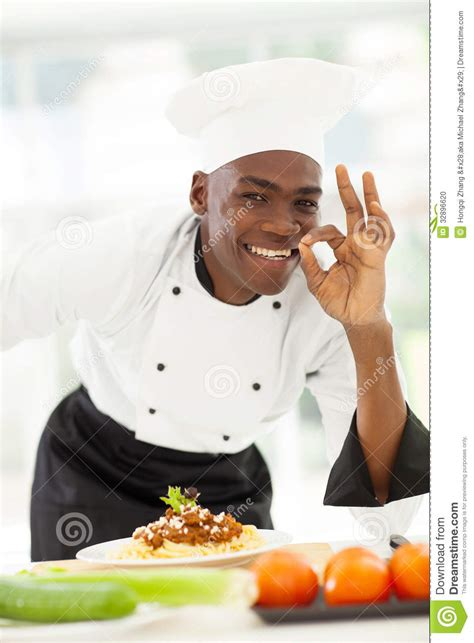 Top Kitchen Designers afro chef delicious stock photo image 32896620