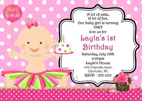 how to write invitation letter for 1st birthday party