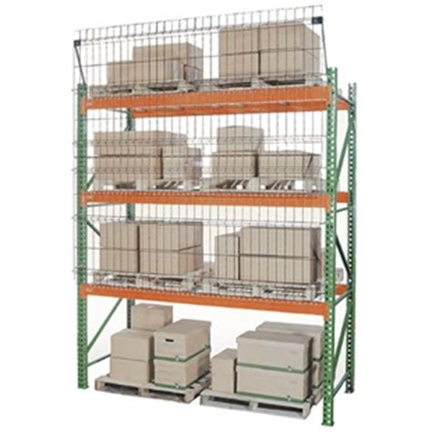 aisle shield wire mesh guarding for pallet racks
