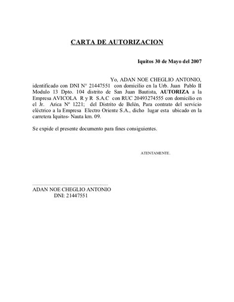 carta de autorizacion acudiente carta de autorizacion