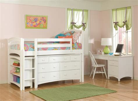 bunk bed with bookcase windsor loft bed w dresser bookcase white by bolton