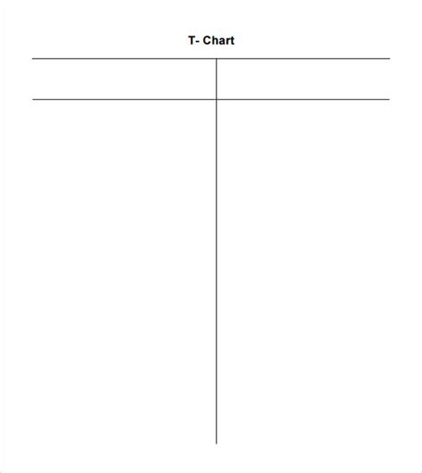 T Chart Template sle t chart 7 documents in pdf word