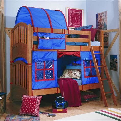 tent over bed lea furniture my place twin over twin bunk bed with tent