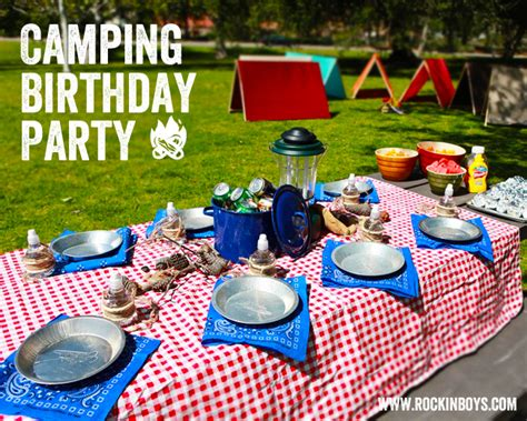 Pool Party Decorations by Camping Birthday Party Overview Rockin Boys Club