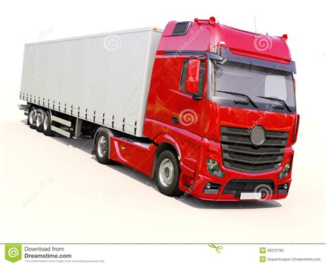 semi trailer truck semi trailer truck stock image image of duty conveyance