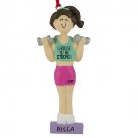 exercise fitness christmas ornaments personalized