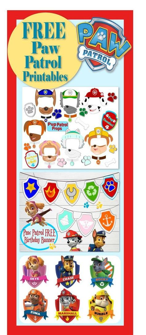 printable birthday card paw patrol free printables for paw patrol party free paw patrol