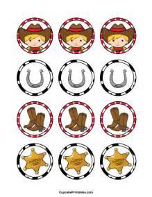 printable cowboy cupcake toppers