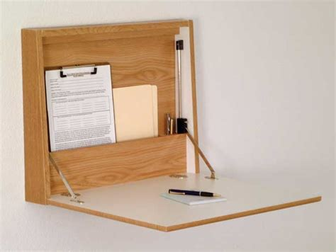 Wooden Mallet Wall Desk Laptop Workstation Wall Desk