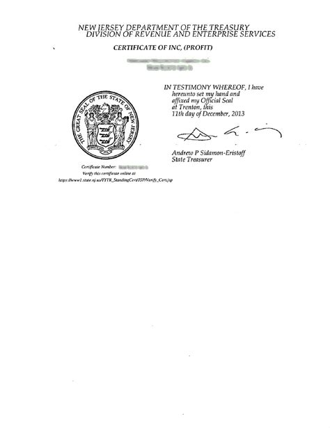 New Jersey Incorporation Registered Agent Incparadise Llc Articles Of Organization Nj Template