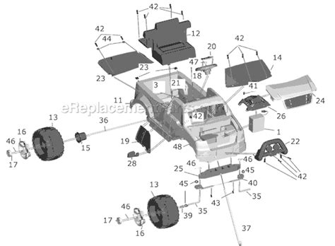 ford truck parts diagram power wheels c3493 parts list and diagram