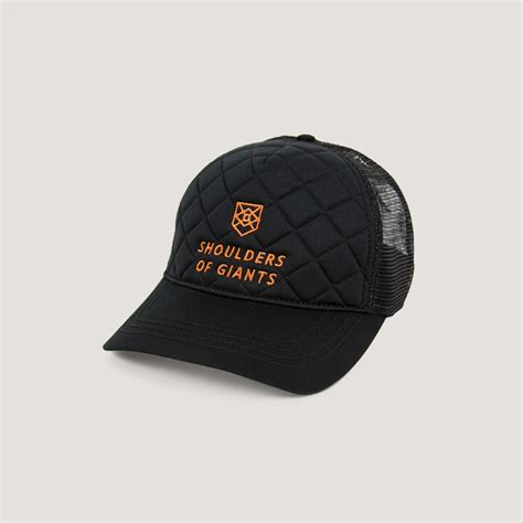 quilted black hat shoulders of giants