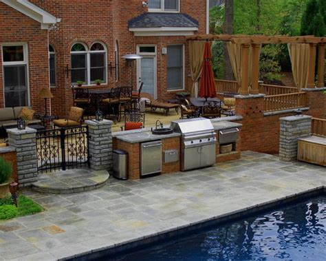 backyard cafe and grill outdoor furniture design and ideas