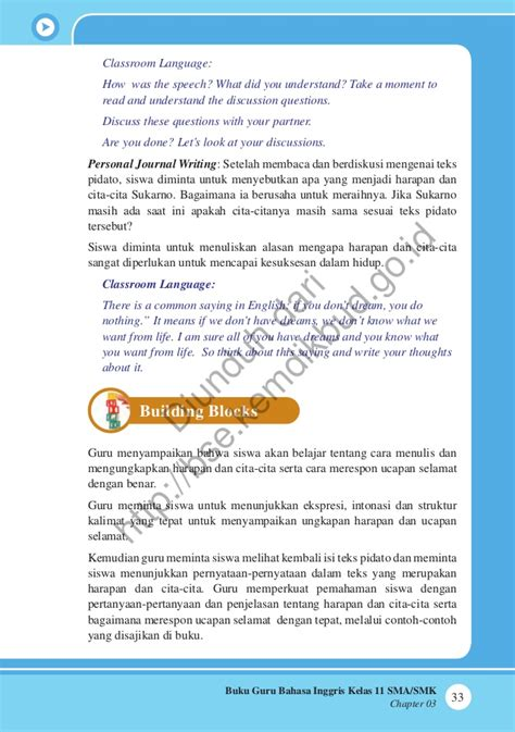 biography guru dalam bahasa inggris bahasa inggris buku guru
