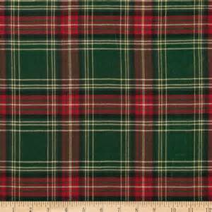 Holiday blitz large plaid green red discount designer fabric