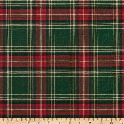 plaid fabric blitz large plaid green discount designer fabric fabric