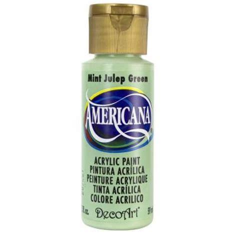 decoart americana 2 oz mint julep green acrylic paint dao45 3 the home depot