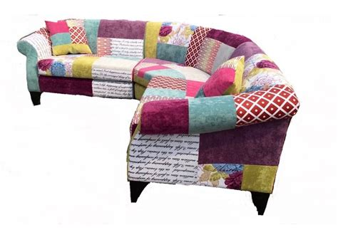 Patchwork Sofas - the dibley corner sofa patchwork