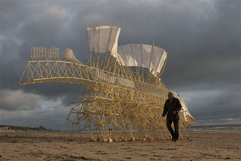 animal rubber sts theo jansen s fabulous strandbeests roam along the