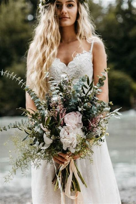 bohemian wedding bouquets   trends