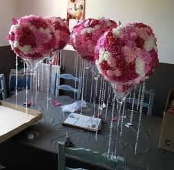 diy boules de fleurs pour vase martini centre de table