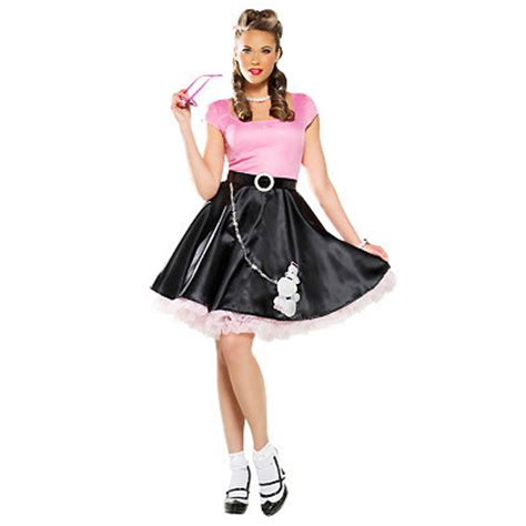 1950s costumes poodle skirts grease pin up
