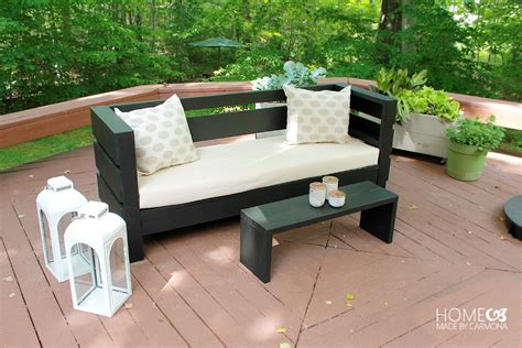diy patio sofa learn how to build an outdoor sofa and coffee table wood