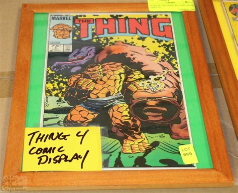 the thing marvel comic book marvel the thing 4 comic book display