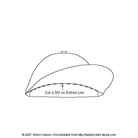 How To Make A Paper Baseball Cap - best photos of baseball hat template printable black and