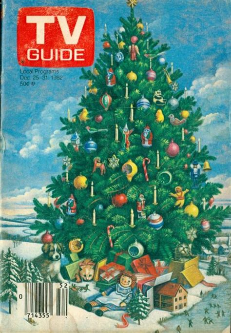 tv guide christmas holiday covers 1975 1985 2 warps
