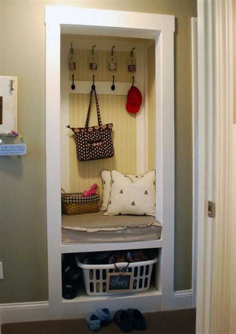 Closet Turned Mudroom by Closet Turned Mud Room