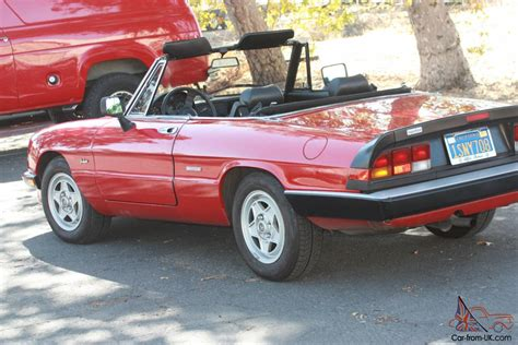 1986 Alfa Romeo Graduate by 1986 Alfa Romeo Spider Graduate Convertible 2 Door 2 0l