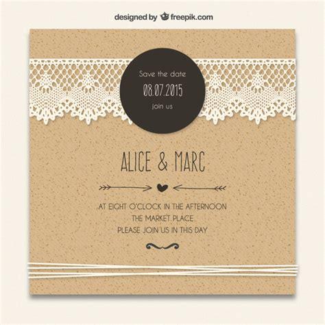 wedding invitation freepik cardboard wedding invitation with lacy decoration vector free
