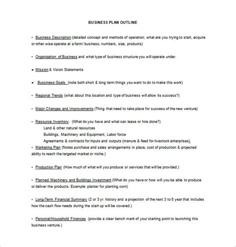 Farming Business Plan Template 14 business plan templates free sle exle format