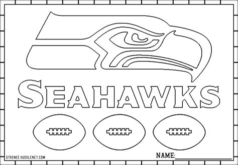 Seattle Seahawks Free Coloring Pages 171 Huddlenet Seattle Seahawk Coloring Pages