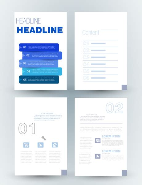 corporate brochure layout design corporate brochure design with layouts illustration free