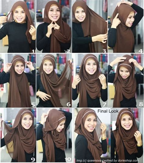 tutorial hijab simple segi empat hijab tutorial segi empat untuk pesta for a party