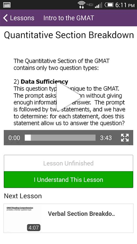 gmat section magoosh gmat prep android apps on google play